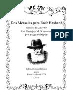 Cartas traducidas para Rosh Hashana 5779
