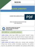 BAB 2 MSDM - Analisis Jabatan