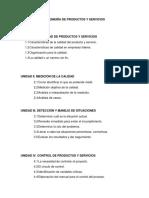 Ingeniería de Productos y Servicios