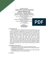 REVIEW JURNAL Analisis SWOT Pada Strategi Bisnis