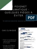 6-4 Pièges des radiographies du poignet DES Med Gen