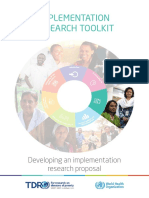 Developing an Implementation Research Proposal Print Version