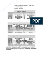 Fixture Campeonato Relámpago