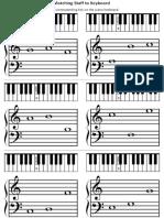 Matching Staff to Keyboard Piano Worksheet