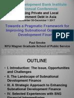Frameworks for Local Government Financial Development