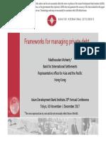 Frameworks for Managing Private Debt