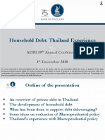 Household Debt - Thailand Experience