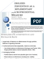 Sterilized Intervention as a Complementary Macroprudential Measure