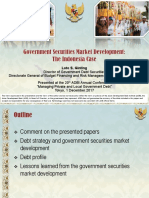 Government Securities Market Development the Indonesia Case