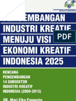 Buku 3 an Industri Kreatif Menuju Visi Ekonomi Kreatif Indonesia 2025