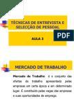3 - Mercado de Trabalho e Recursos Humanos