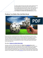 Panduan Cara Daftar Situs Judi Bola Resmi