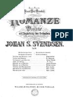 Svendsen, Johan S. - Romanze für Violine mit Begleitung des Orchesters. Op.26. Übertragen für Flöte mit Pianoforte.pdf