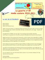 Gazette de la rentrée 2010