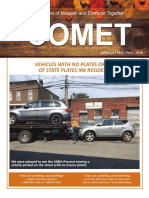 Comet Fall 2018 Newsletter