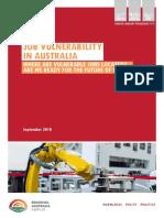 Job Vulnerability in Australia