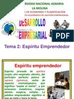 2. Espíritu Emprendedor
