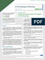Psychoneuroimmunology (PS) Applied to Otolaryngology