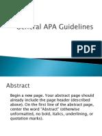 General APA Guidelines