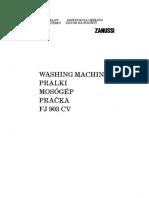 FJ 903 CV Manual (Masina de Spalat)