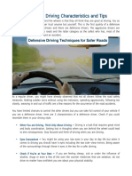 Defensive Driving Characteristics and Tips
