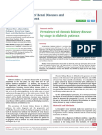 Prevalence of chronic kidney disease by stage in diabetic patients