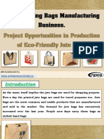 Jute Shopping Bags Manufacturing Business