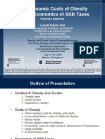 Economic Costs of Obesity & Economics of Sugar-sweetened Beverage (SSB) Taxes