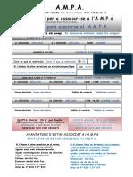 Sol-licitud per associar-se a l'A.M.P.A (castellà i valencia)