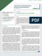 Sintering process and catalysis