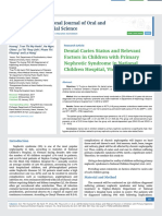 Dental Caries Status and Relevant Factors in Children with Primary Nephrotic Syndrome in National Children Hospital, Vietnam