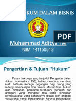 Tugas Aspek Hukum Dalam Bisnis - Muhammad Aditya TM