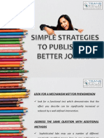 SIMPLE STRATEGIES  TO PUBLISH IN A  BETTER JOURNAL