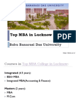 Top MBA College in Lucknow | Babu Banarasi Das University