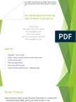 Green investment trends and connecting green projects to green finance