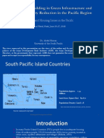 Infrastructure needs of the Pacific Island Countries and associated issues