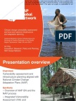 Climate change vulnerability assessment and local and national infrastructure and adaptation planning