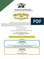 Bando Audizioni Mambo Italiano Il Musical_Source JMIAS.com - International Acting
