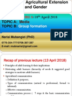 Lecture 8- Communication Media & Group Formation - April 18 2018