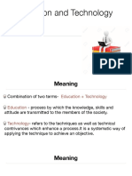 Meaning, Nature and Scope of Eduactional Technology