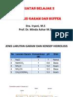 Ppt Kb 2 - Hidrolisis Dan Buffer