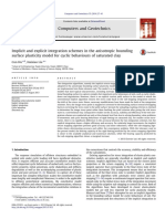 Implicit and Explicit Integration Schemes in the Anisotropic Bounding Surface Plasticity Model for Cyclic Behaviours of Saturated Clay