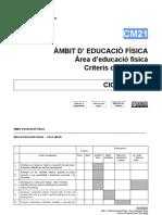 CM21 - Àmbit d'Educació Física - Àrea d'Educació Física - Criteris d'Avaluació Del Cicle Mitjà