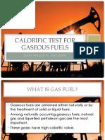 Calorific Test for Gaseous Fuels