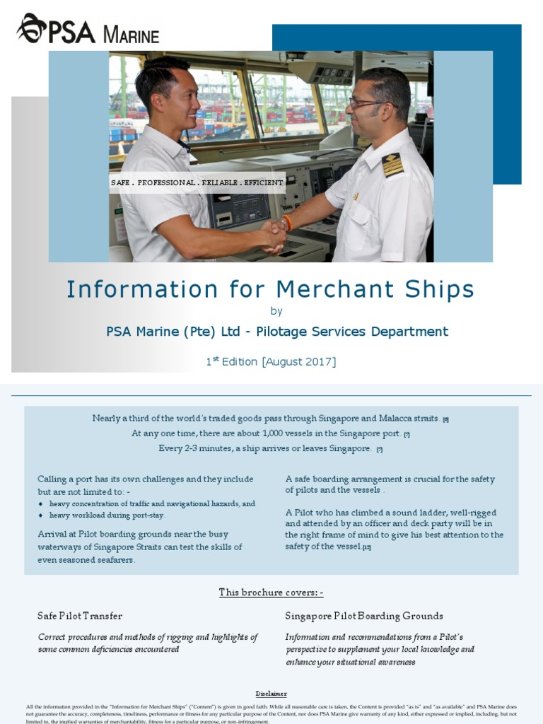 Information for Merchant Ships | Maritime Pilot | Ships