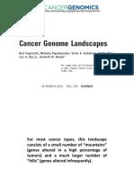 Apresentação Review - Cancer Genome Landscapes 2013