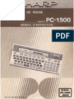 FR PC-1500 Manuel d Instruction