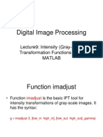 DIP9 - Intensity Transformation Functions Using MATLAB