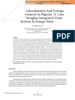 Economic Liberalization and Foreign Direct Investment in Nigeria.vol.2.No.1.002