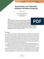Politics Of Resettlement And Nationality  Crisis Of Inhabitants Of Bakassi Peninsula.